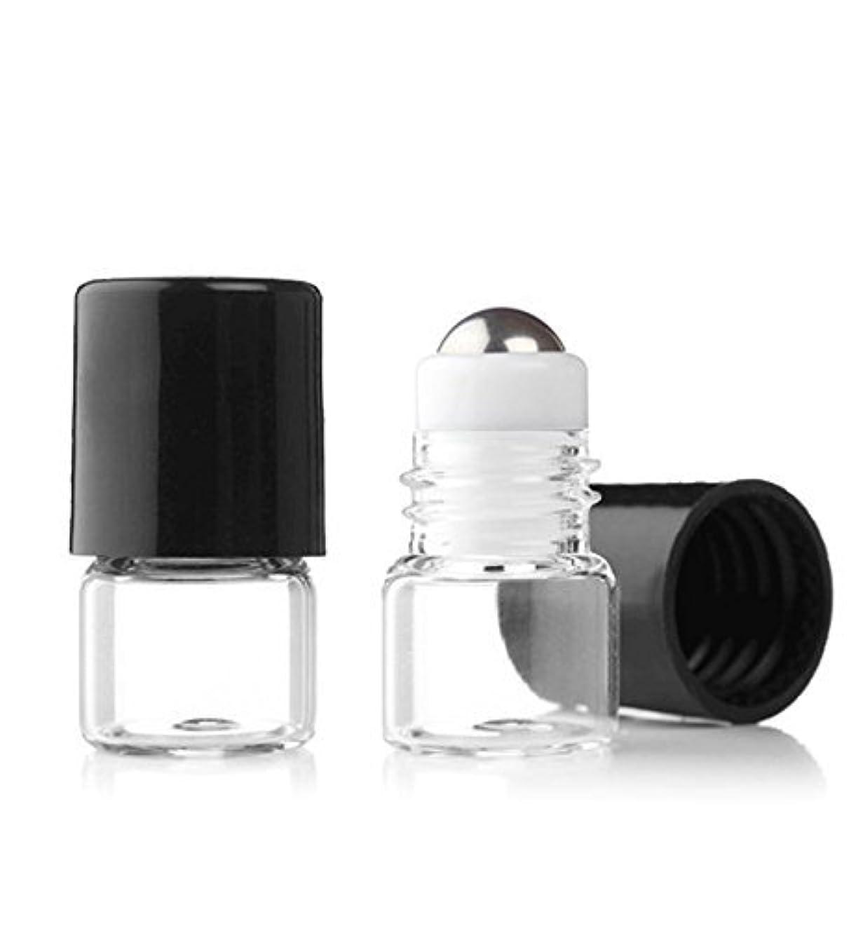 天文学ハンサム暴露Grand Parfums Empty 1ml Micro Mini Rollon Dram Glass Bottles with Metal Roller Balls - Refillable Aromatherapy...
