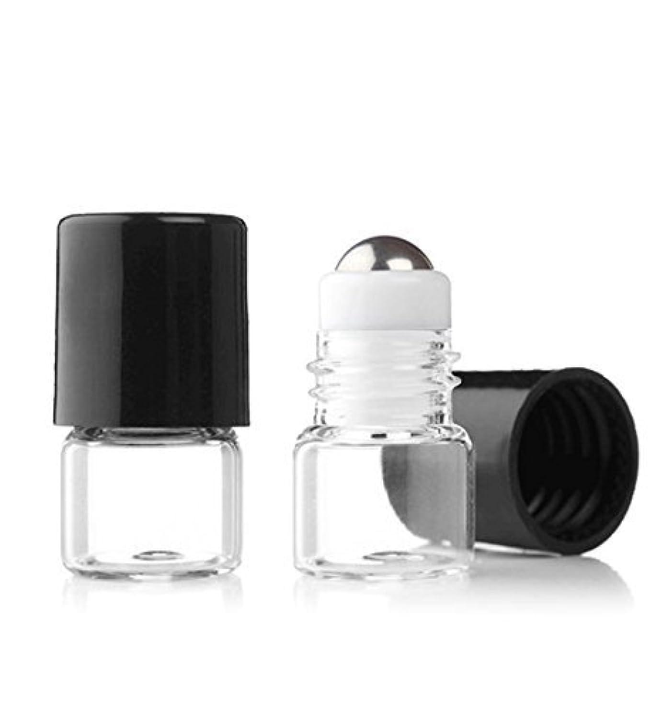 共感する自分の二年生Grand Parfums Empty 1ml Micro Mini Rollon Dram Glass Bottles with Metal Roller Balls - Refillable Aromatherapy...