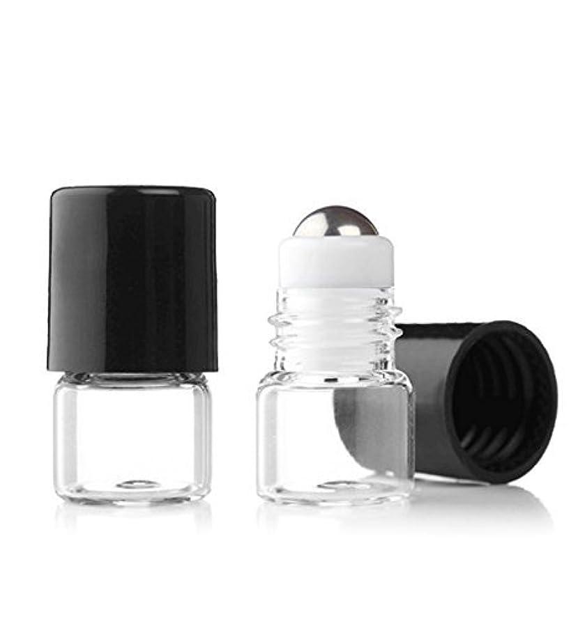 無駄だ寛大さ深めるGrand Parfums Empty 1ml Micro Mini Rollon Dram Glass Bottles with Metal Roller Balls - Refillable Aromatherapy...