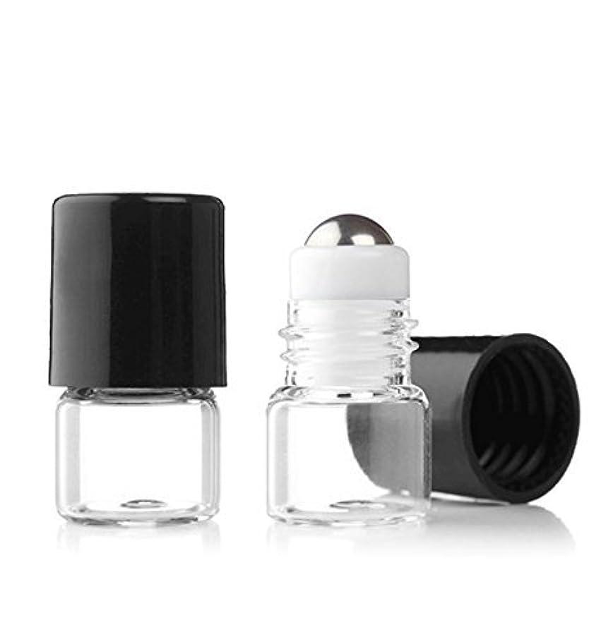 連結する過去正しいGrand Parfums Empty 1ml Micro Mini Rollon Dram Glass Bottles with Metal Roller Balls - Refillable Aromatherapy...