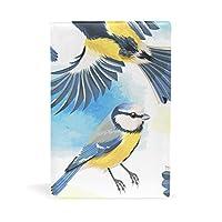 旅立の店 ブックカバー レザー 文庫カバー フリーサイズ 水彩絵 鳥柄 上品 おしゃれ 本好きなあなたに 学生 22x15cm