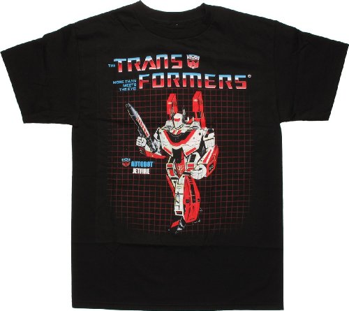 トランスフォーマーJetfire g1Tシャツ US サイズ: L カラー: ブラック
