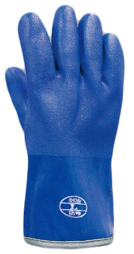 [해외]おたふく手袋 방한 내유성 고무 장갑 더미 일체형 중간 길이 (약 30cm)/Otafuku sacks Anti-cold oil resistant rubber gloves Pile integrated type semi-long (about 30 cm)