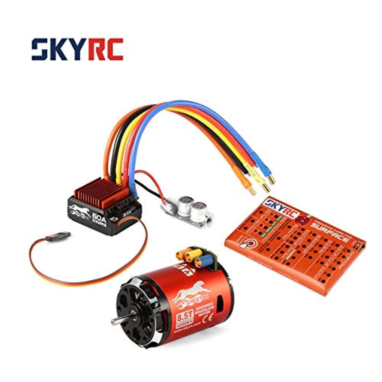 SKYRC 4000KV 8.5Tセンサー付きブラシレスモーター60A ESCプログラムカード(1/10車用)