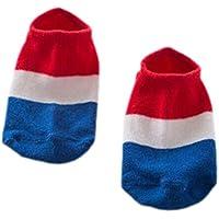 【フランスの旗] 2枚組のソフトコットンアンチスリップアンクルソックス0-2歳の赤ちゃんのために