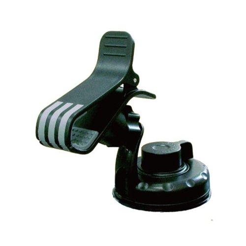 オウルテック クリップで簡単取付け!強力ゲル+真空吸盤でガッチリ固定!iPhone/スマートフォン対応ワンタッチホールドクリップホルダー ブラック OWL-CACHG