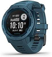 Garmin Instinct, Rugged Outdoor GPS Watch, Lakeside Blue