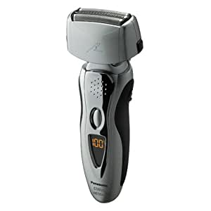 Panasonic ES8109S Men's 3-Blade (Arc 3) Wet/Dry Nanotech Rechargeable Electric Shaver with Vortex Cleaning System, Silver(US Version, Imported)