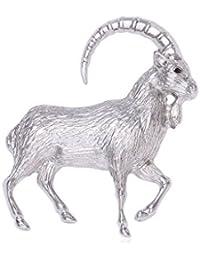 【ノーブランド品】シルバー 結婚式 ブライダル ジュエリー シルバー かわいい動物 ヤギ、ヒツジのブローチ 胸のピン
