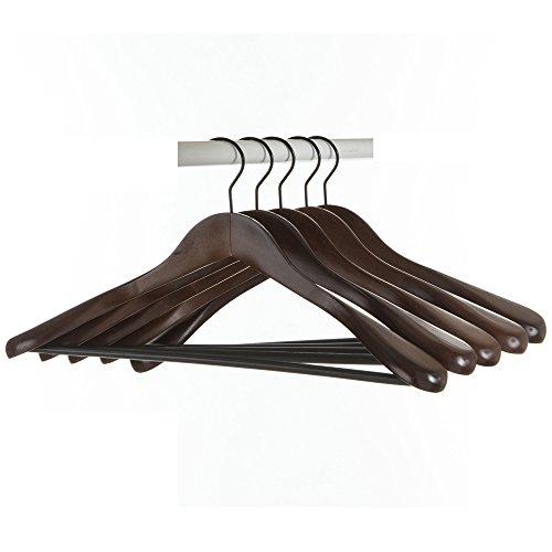 高級木製 型崩れしない Hanger 木製男性用 スーツハンガー コートハンガー ジャケットハンガー 木製5本組 DOREIS