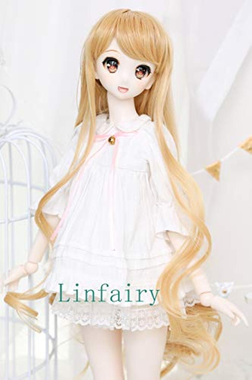 Linfairy 1/3 サイズ ドール用 ウィッグ フィギュア 人形用 BJD Wave Wig (blonde)