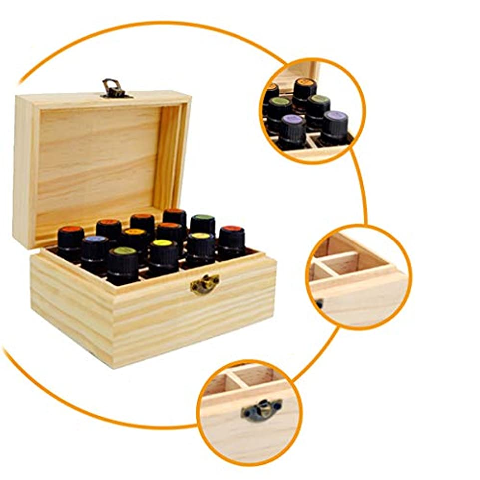 ピザおそらく安全性JIOLK エッセンシャルオイル 収納ボックス 12本用 木製 香水収納ケース 大容量 精油収納 携帯便利 オイルボックス おしゃれ 精油ケース