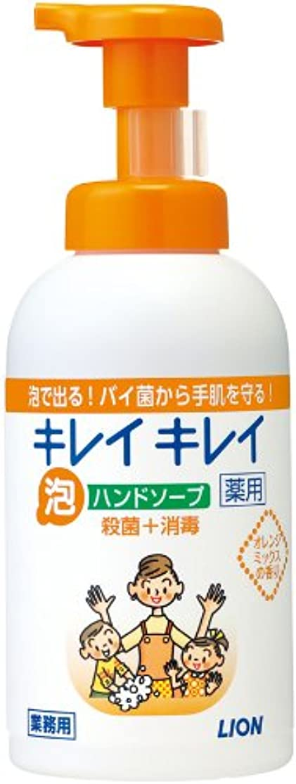 変色する腹痛鳥キレイキレイ 薬用泡ハンドソープ オレンジミックスの香り 550ml