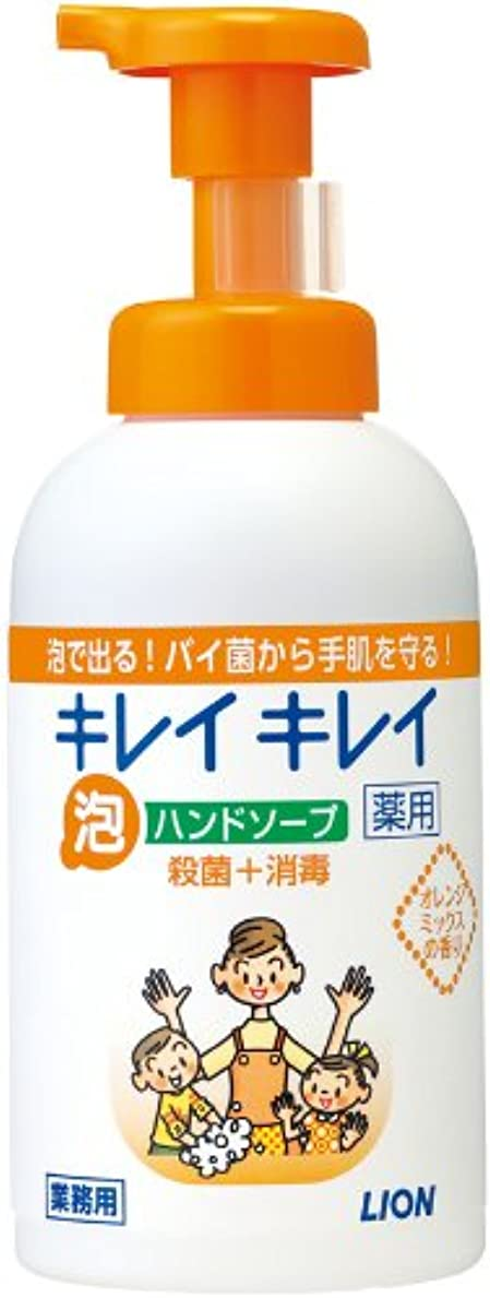 シンク通知するいらいらさせるキレイキレイ 薬用泡ハンドソープ オレンジミックスの香り 550ml