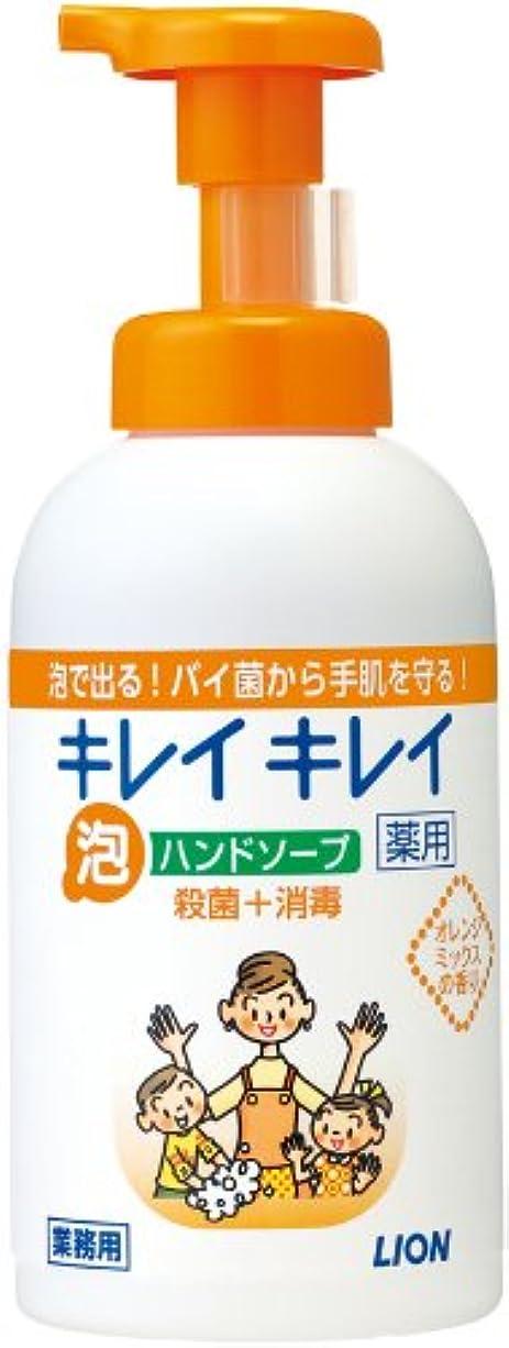 してはいけない刈る童謡キレイキレイ 薬用泡ハンドソープ オレンジミックスの香り 550ml