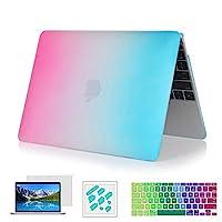 ryGOu 4in 1マット大理石ハードケースとキーボードカバーScreenguard anti-dustプラグ13.3インチのMacBook Pro with Retina Displayモデル: a1502& a1425 13R-MVIOLET-4