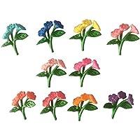 Dovewill 10個 ミニチュア マイクロランドスケープ 樹脂工芸品 ガーデン装飾品 全4タイプ - タイプ4