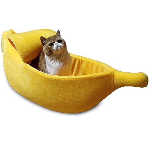 猫ハウス 犬ベッド バナナ型 ペットハウス 春 夏 年中通用 快適 ふわふわ...