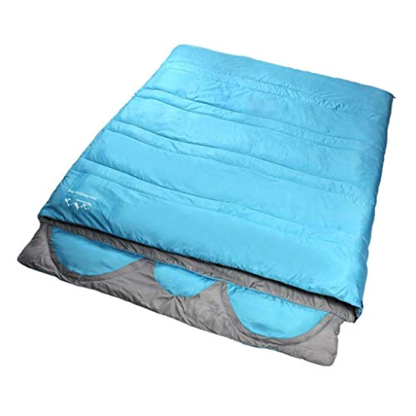 勤勉な対角線ボリューム3人寝袋ワンピースデザイン屋外大人四季大厚み保温