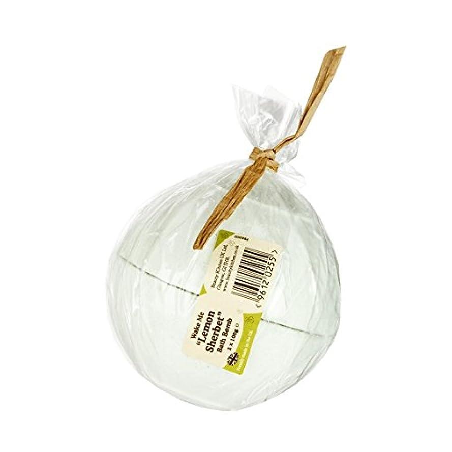 ご近所わがまま内訳美しさのキッチンは私にレモンシャーベットバス爆弾2×100グラムを覚まします - Beauty Kitchen Wake Me Lemon Sherbet Bath Bomb 2 x 100g (Beauty Kitchen...