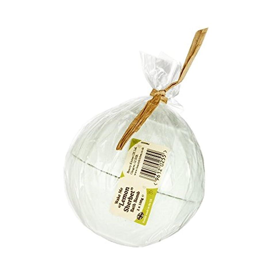 寸法ネックレス梨Beauty Kitchen Wake Me Lemon Sherbet Bath Bomb 2 x 100g (Pack of 2) - 美しさのキッチンは私にレモンシャーベットバス爆弾2×100グラムを覚まします (...