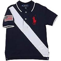 Polo RL Little Boy's (4-7) Big Pony Stripe Mesh Polo