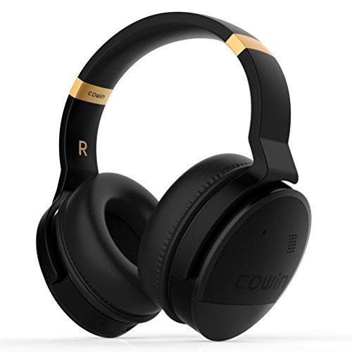 COWIN E8 ノイズキャンセリング ワイヤレス Bluetooth ヘッドホン 密閉型 高音質 マイク付きハンズフリー通話可能 20時間再生 ケーブル着脱式 iphone x PC Mac などに対応 ブルートゥース ステレオ ヘッドフォン-ブラック