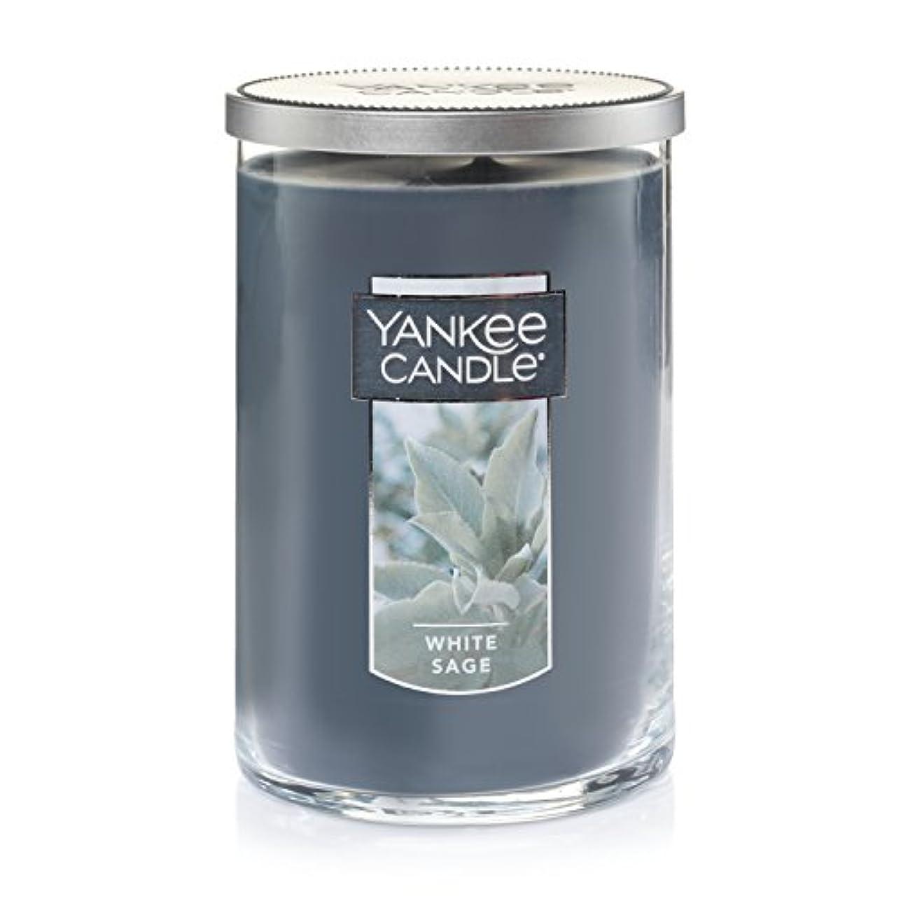 拘束する入射揮発性Yankee Candleホワイトセージ Large 2-Wick Tumbler Candles 1556031-YC
