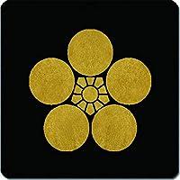 家紋 捺印マット 梅鉢紋 11cm x 11cm KN11-2564