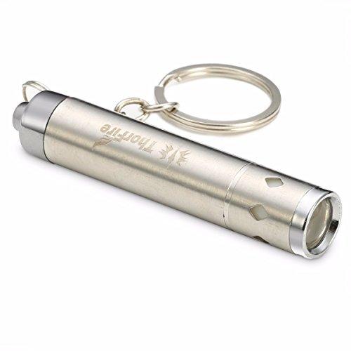 ThorFire KL44 ミニ懐中電灯 LEDキーライト キーホルダー・チェーン 高輝度耐用軽量 精密小型ステンレススチール製 防災・アウトドア・プレゼント