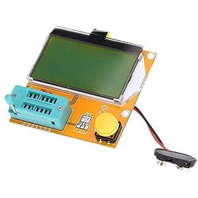 HiLetgo® LCR-T4 Transistor Tester LCD Display Diode Triode Capacitance ESR Meter Mos PNP NPN SCR Inductance DIY 9V 12864 LCD