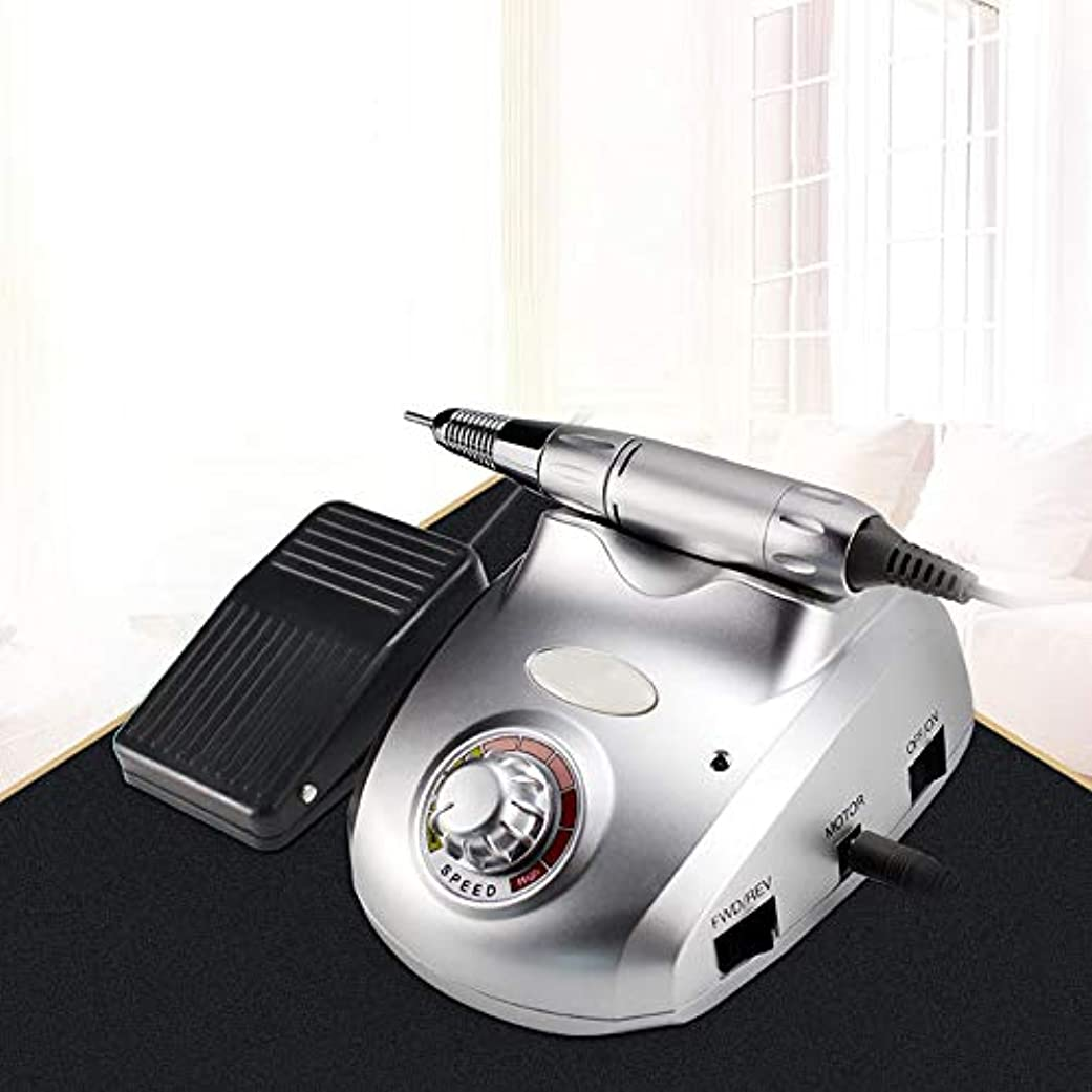 乗り出す制約略奪マニキュアツールペディキュアキット35000RPM用電気マニキュアペディキュアポータブルネイルファイルネイルドリルマシンA