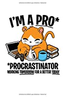Notizbuch: Hamster Faul Procrastinate Witz Lustiges Geschenk 120 Seiten, 6X9 (Ca. A5), Punktraster