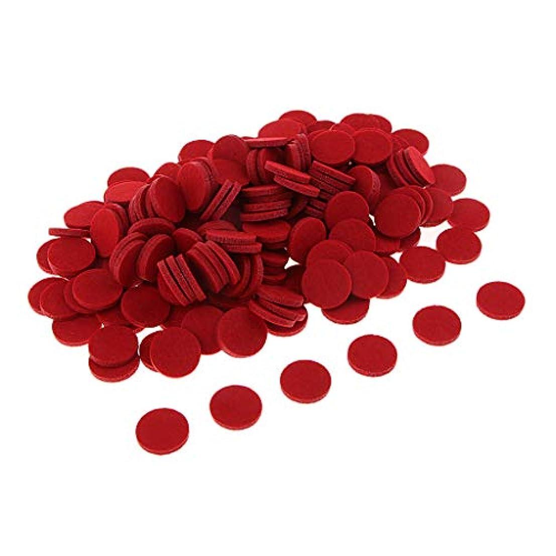 荒れ地マウントバンク電報ディフューザー パッド アロマパッド エッセンシャルオイル 洗える 約200個入り 全11色 - 赤