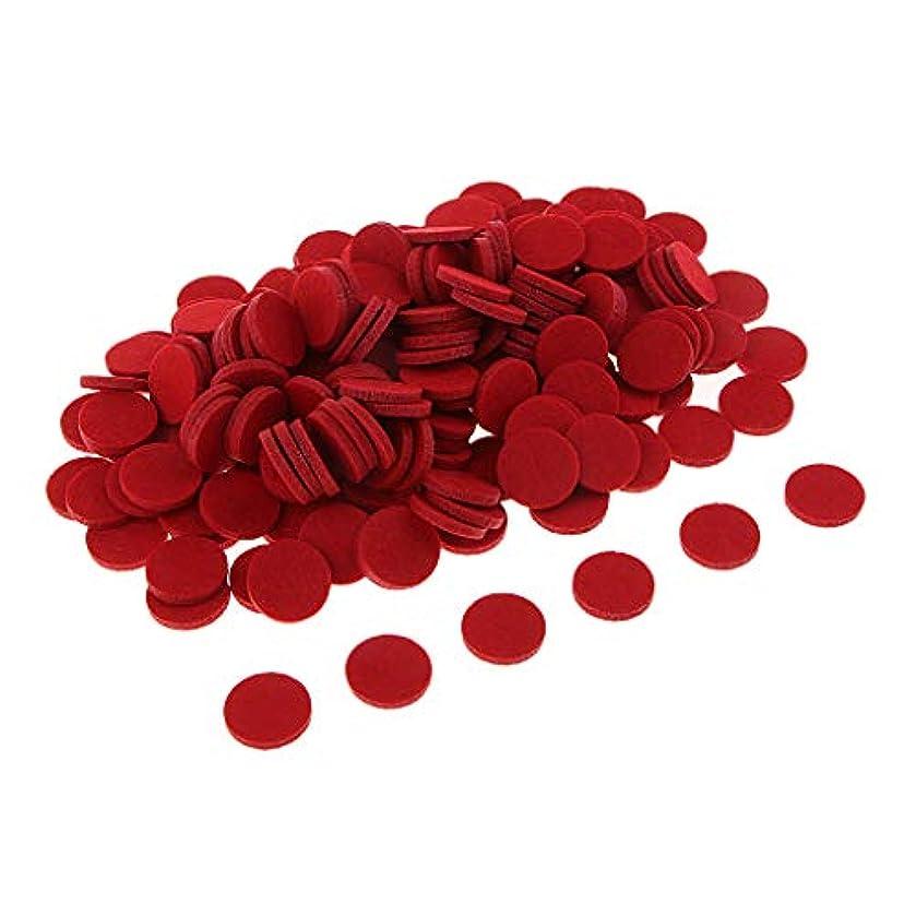名義で不適当宿るchiwanji 精油付き ロマテラピー用オイルパッド チェアマット 交換用 香水 精油 車 全11色 約200個入り - 赤
