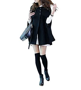 (アサコレクション) asa_collection エレガント ! Aライン ポンチョ 風 コート / マントコート / S M L XL 大人 雰囲気 レディース ファッション(L)