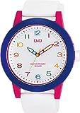シチズン Q&Q 腕時計 アナログ ビックフェイス 防水 ウレタンベルト VS56-007 レディース ホワイト
