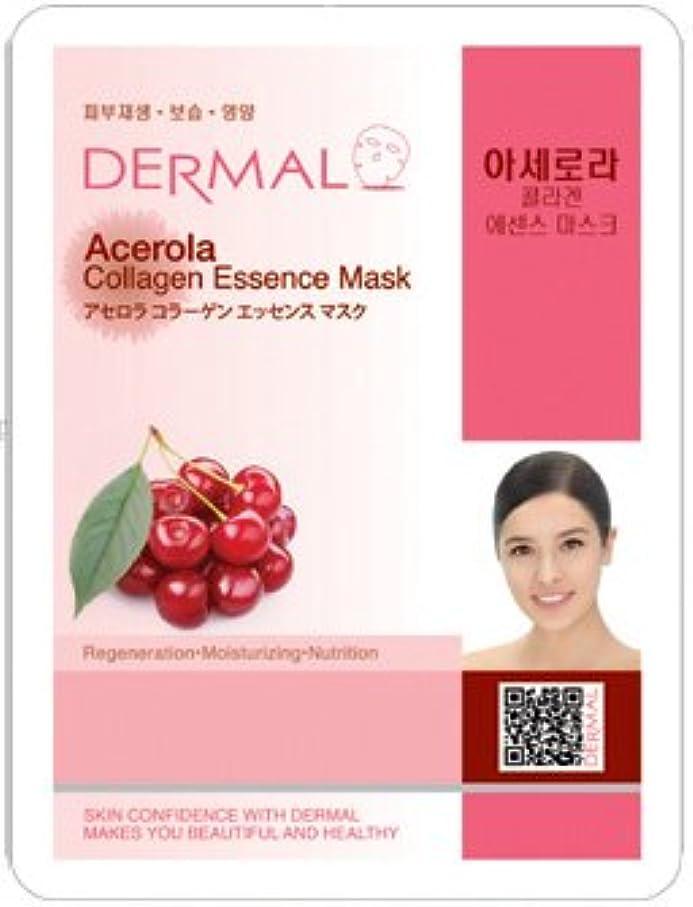 暖かさ推測する肥沃なシートマスク アセロラ 100枚セット ダーマル(Dermal) フェイス パック