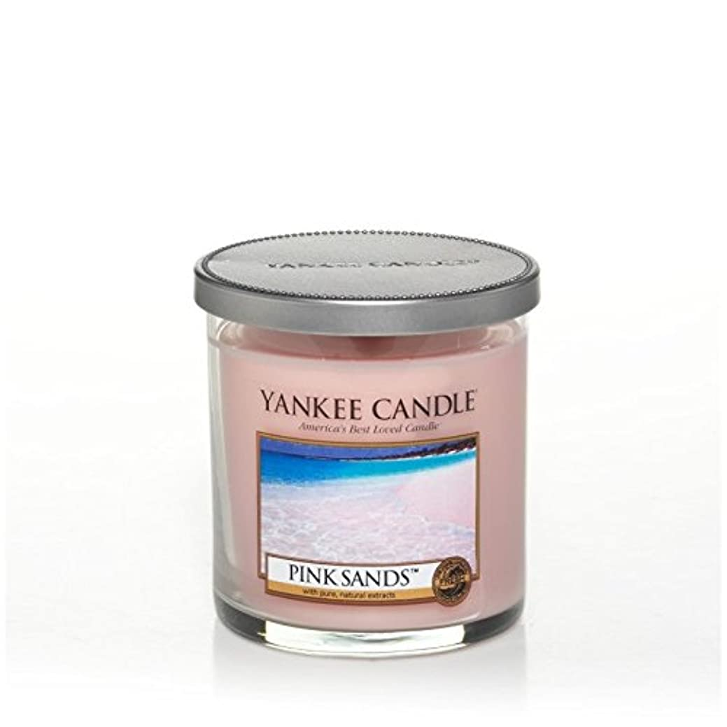二年生何故なのページェントYankee Candles Small Pillar Candle - Pink Sands? (Pack of 2) - ヤンキーキャンドルの小さな柱キャンドル - ピンクの砂? (x2) [並行輸入品]