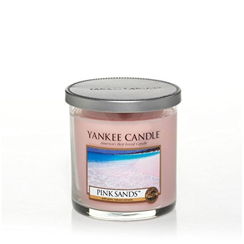 買い手パラシュート抗議Yankee Candles Small Pillar Candle - Pink Sands? (Pack of 2) - ヤンキーキャンドルの小さな柱キャンドル - ピンクの砂? (x2) [並行輸入品]