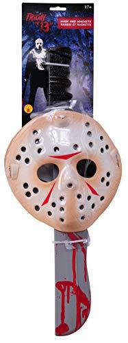 13日の金曜日 ジェイソン 公式ライセンス商品 マスクアンド武器セット コスチューム用小物 男女共用