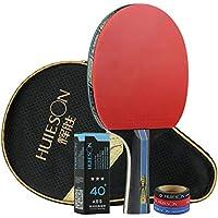 Huieson 4スター卓球ラケット 卓球セット ラケット1本 ピンポン球3個 エッジプロテクション3個