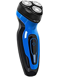 男性用ロータリーシェーバー3D電動シェーバーひげトリマーウェット&ドライメンズIPX7防水USB高速充電トラベルロック付き