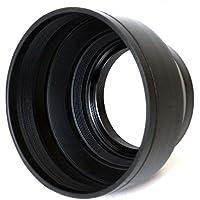 BlueBeach 77mm ラバー レンズフード 3段伸縮式 各社対応 Canon / Nikon / Olympus / Panasonic / Pentax / Samsung / Sony / Leica