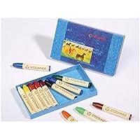 Stockmar(シュトックマー社) 蜜蝋(みつろう)クレヨン12色紙箱入り スティックタイプ 基本色
