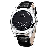 BTXXY 5017 腕時計 時計 女性用 男性用 メンズ レディース ビジネス シンプル 防水 (色 : ブラック)