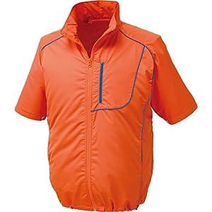 空調服 服単体 ポリエステル製半袖空調服 KU91720 オレンジXネイビー 2L 8209238