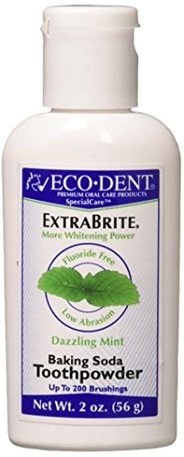 乳ぺディカブ木材ECO-DENT エコデント国際トゥースホワイトナー/ミントパウダー2オンス(3パック)
