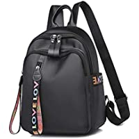 Black Mini Backpack for Women, Hamkaw Small Backpack Purse for Women Girls w/Travel Size Capacity, Anti-Theft Zipper, Lightweight