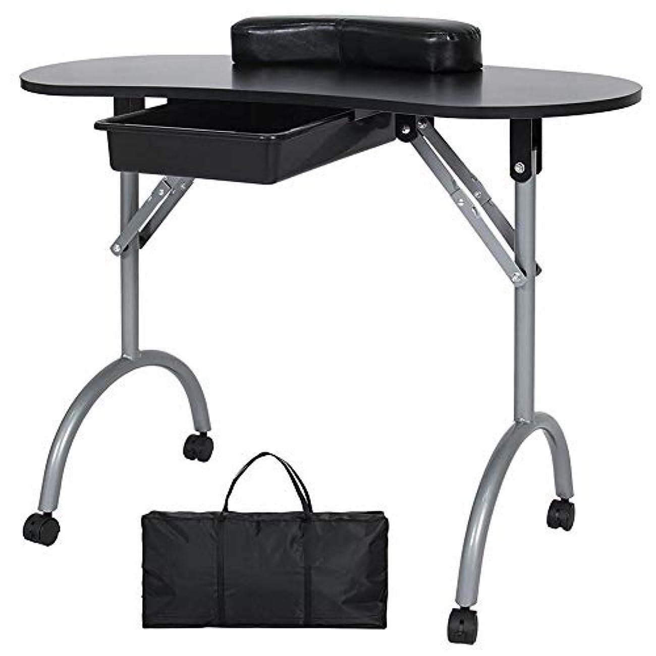 封筒取り扱いご意見FMEZYネイルテーブルマニキュアテーブル製品ポータブルマニキュア折りたたみデスクワークステーション付きキャリングバッグ
